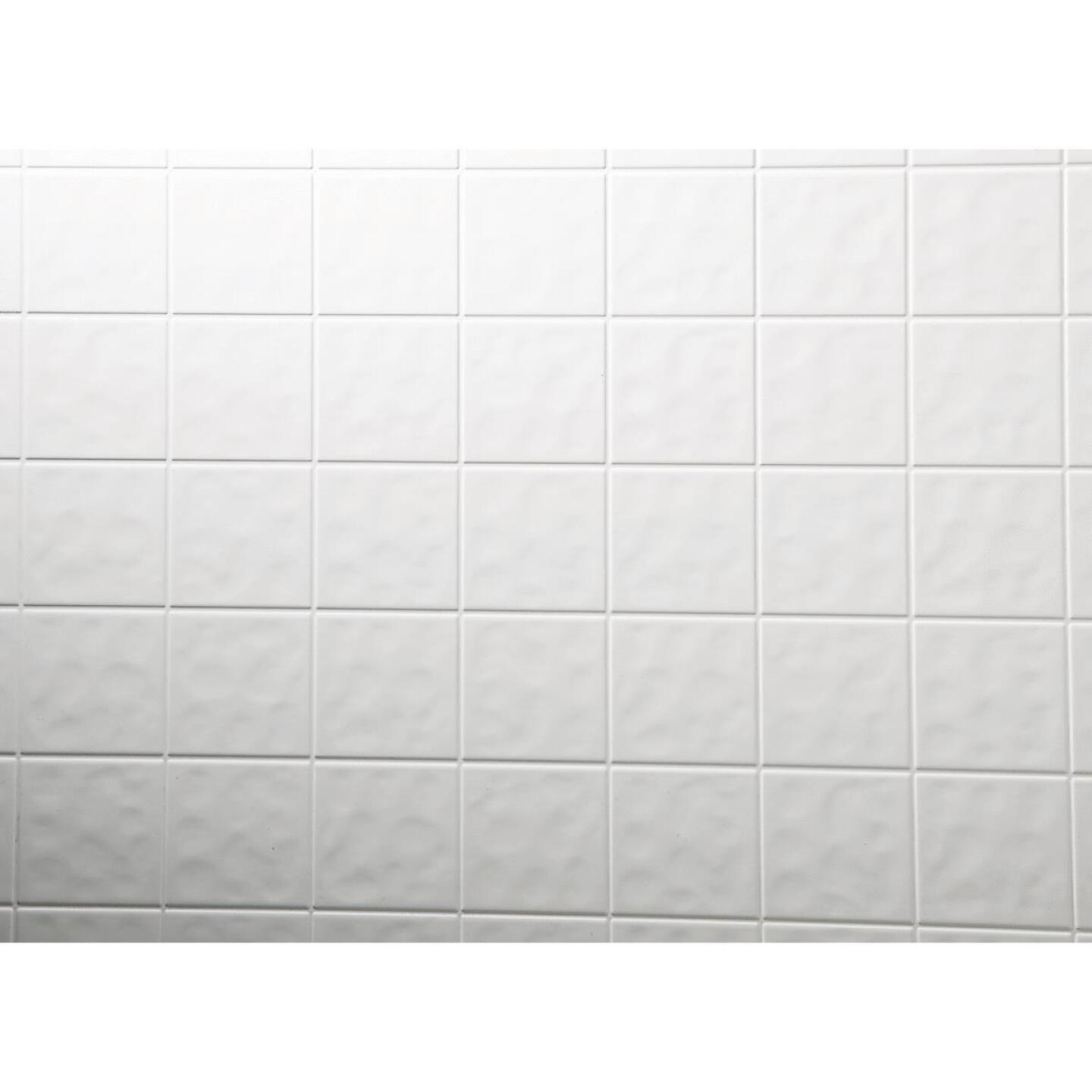 DPI AquaTile 4 Ft. x 8 Ft. x 1/8 In. White Tileboard Wall Paneling Image 1