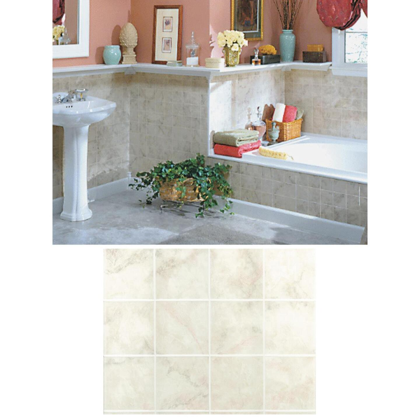 DPI AquaTile 4 Ft. x 8 Ft. x 1/8 In. Beige Milan Marble Tileboard Wall Paneling Image 1