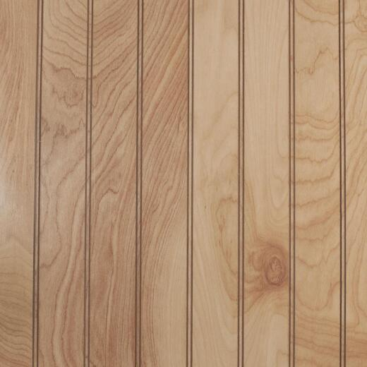 Global Product Sourcing 4 Ft. x 8 Ft. x 1/8 In. Natural Birch Beaded Profile Wall Paneling