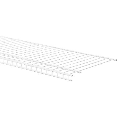 ClosetMaid SuperSlide 8 Ft. W. x 12 In. D. Ventilated Closet Shelf, White