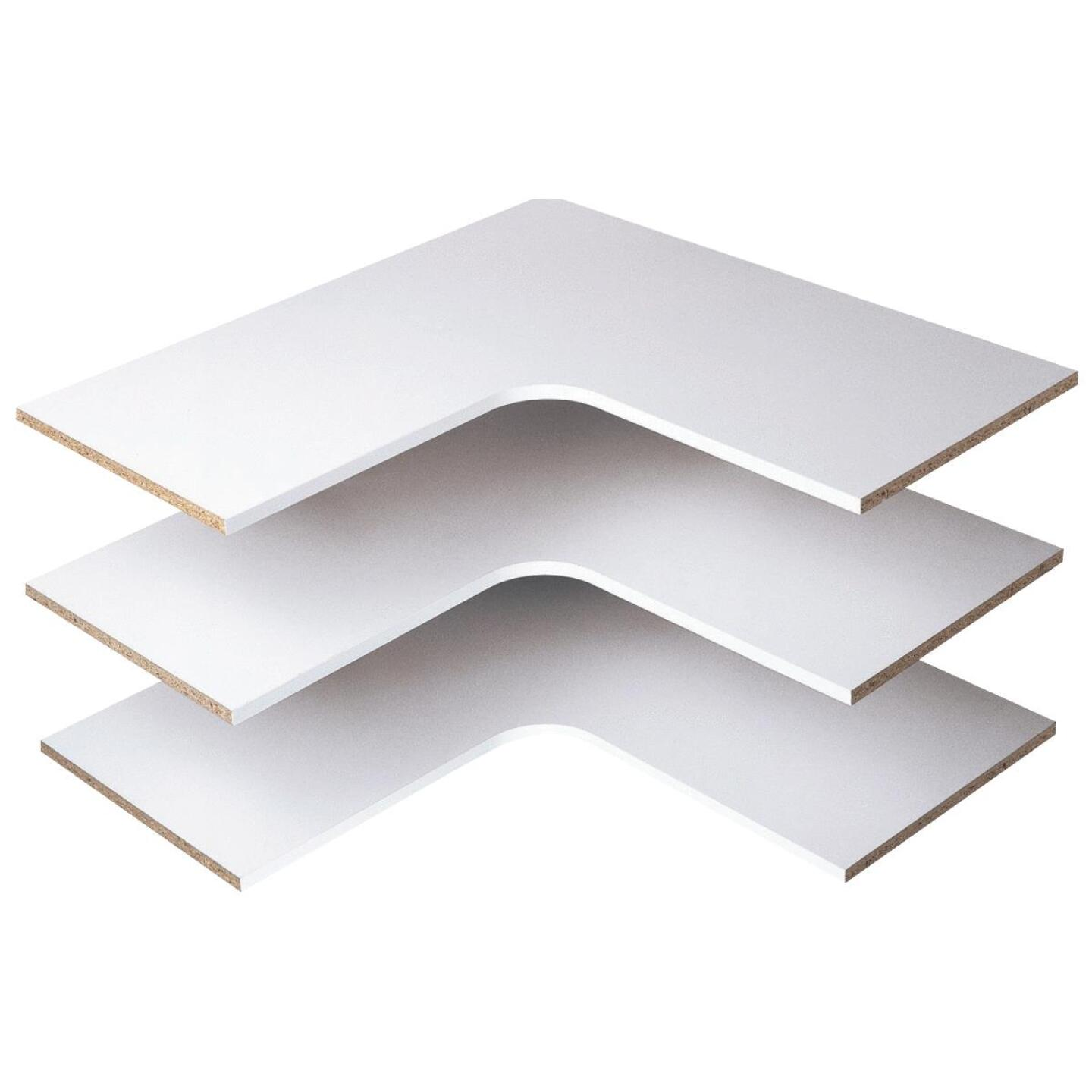 Easy Track 29-7/8 In. Corner Shelf, White (3-Pack) Image 1