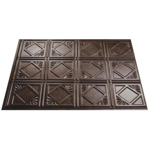 Fasade 18 In. x 24 In. Thermoplastic Backsplash Panel, Smoked Pewter Traditional 4