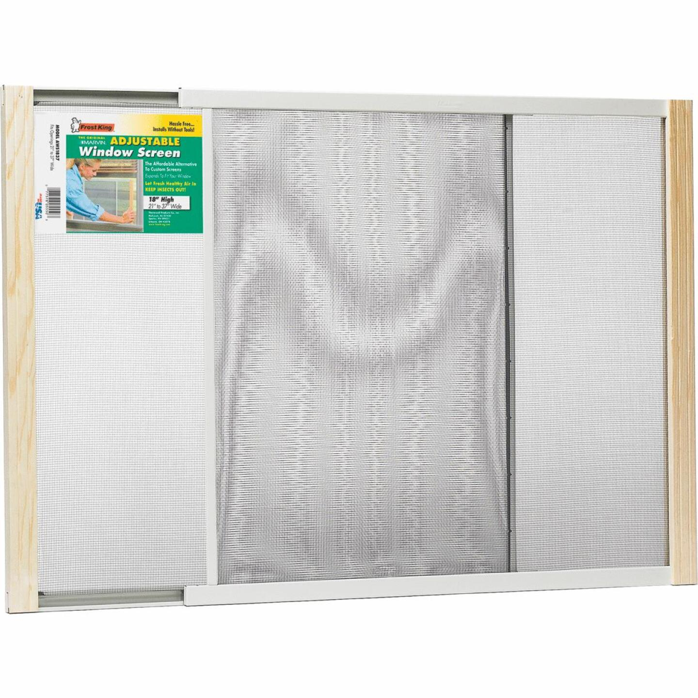 Frost King 21 to 37 In. W. x 18 In. H. Adjustable Metal Rail Screen Image 1
