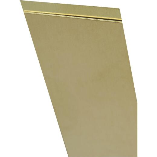 K&S 4 In. x 10 In. x .015 In. Brass Sheet Stock