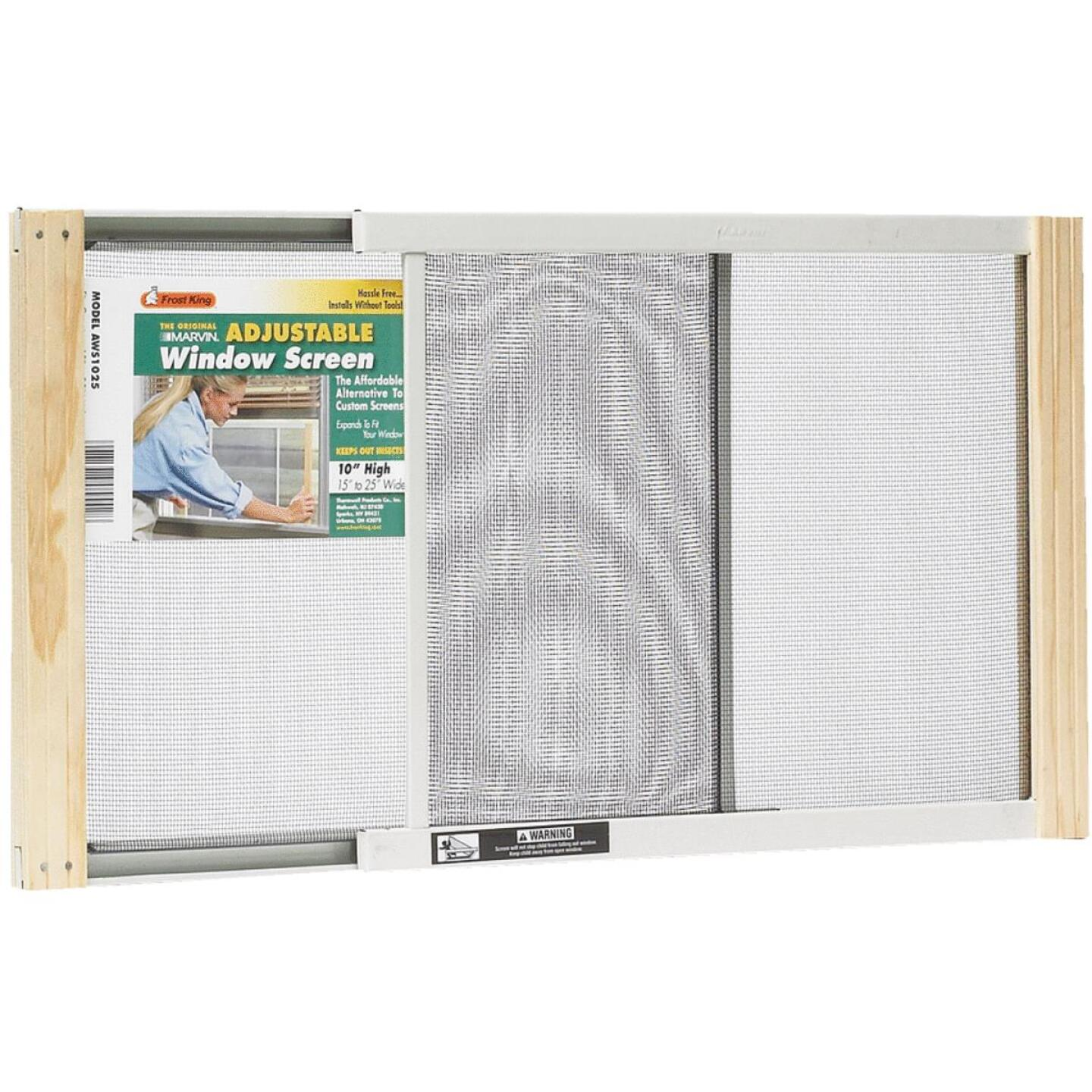 Frost King 15 to 25 In. W. x 10 In. H. Adjustable Metal Rail Screen Image 1