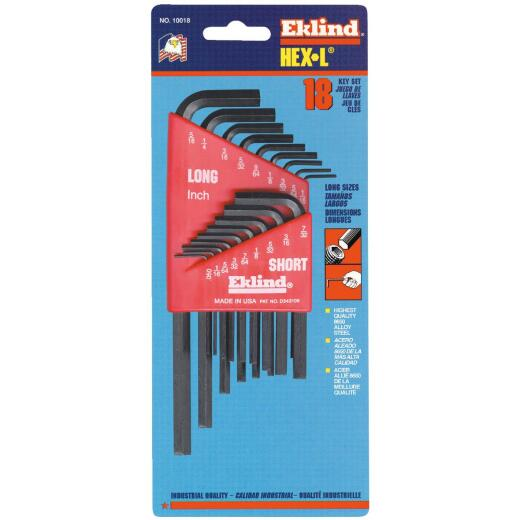 Eklind Combination Hex Key Set, 18-Piece