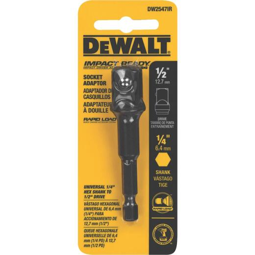 DeWalt 1/2 In. x 2 In. L. Socket Adapter