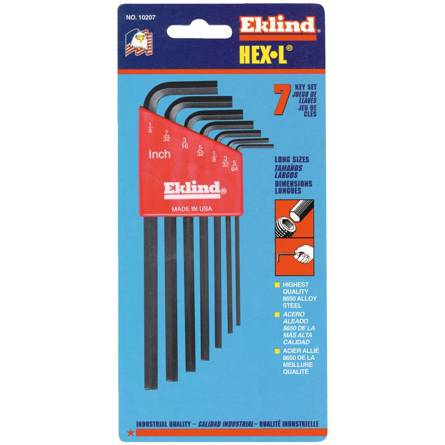 Eklind Long Arm Hex Key Set, 7-Piece Image 1
