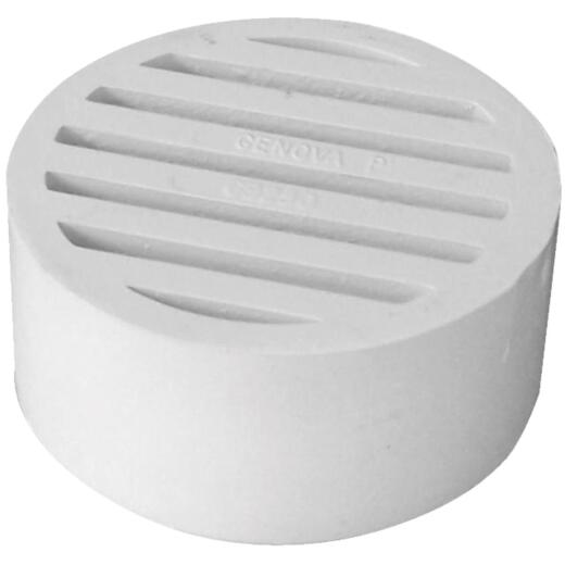 Genova Hub-Fit 3 In. PVC Floor Strainer