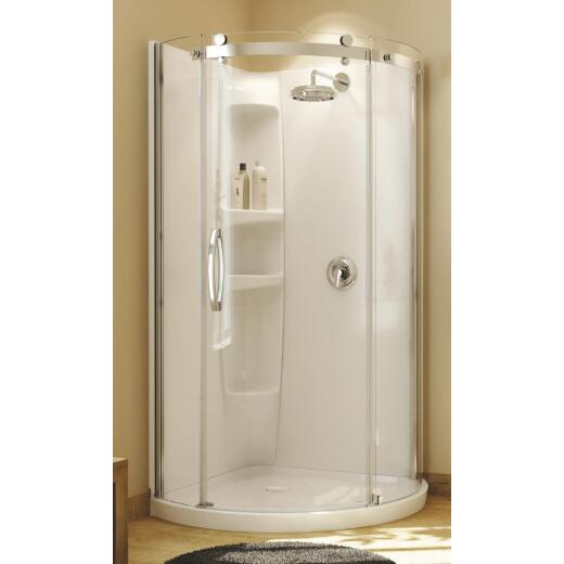 Maax Olympia 22 In. W x 71-3/4 In. H Chrome Framed Clear Glass Corner Shower Door