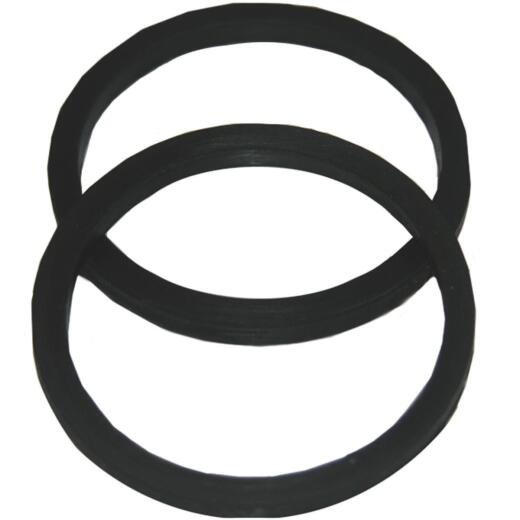 Lasco 1-1/2 In. Black Rubber Slip Joint Washer (2 Pack)