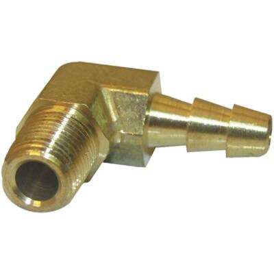 Lasco 1/8 In. MPT x 1/4 In. Hose Barbed Brass Elbow