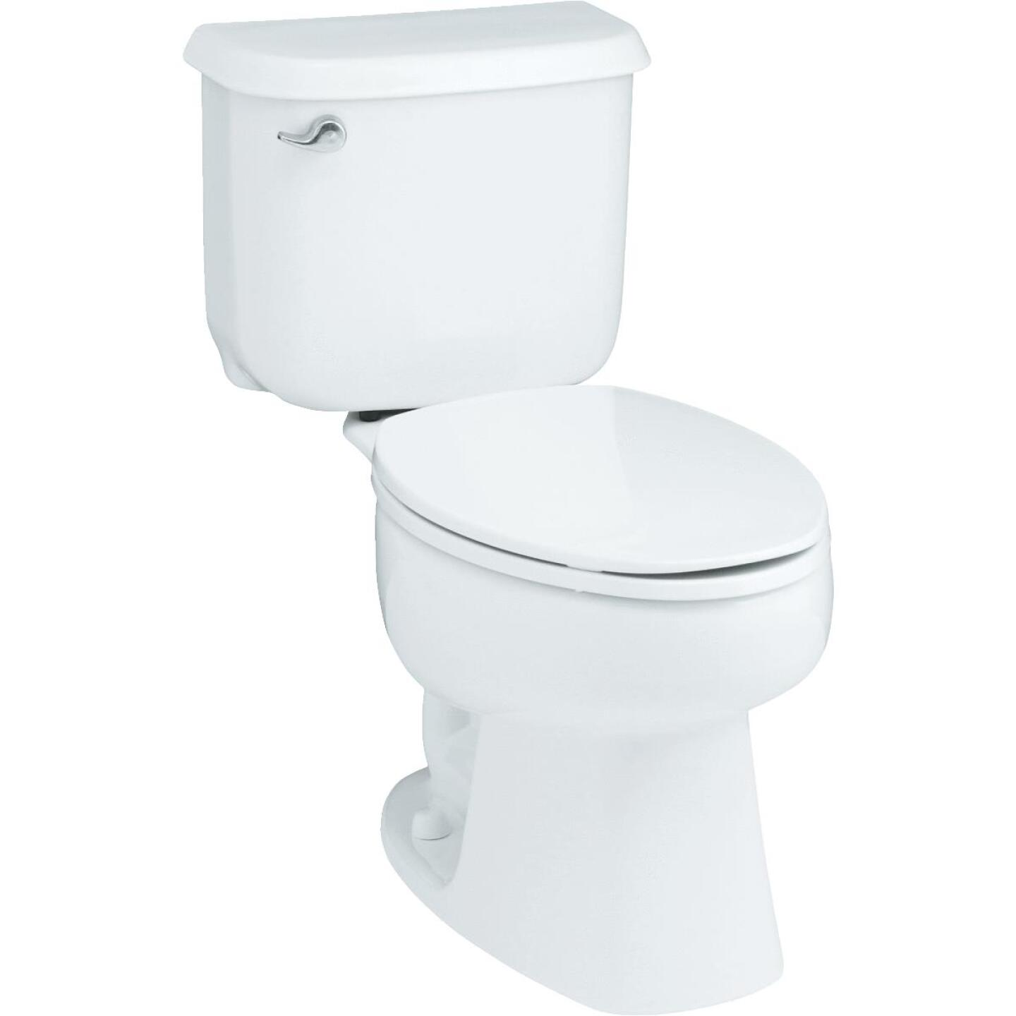 Sterling Windham White Round Bowl 1.28 GPF All-In-One Toilet Image 1