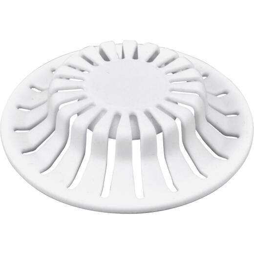 Danco 1-1/2 In. White Silicone Bathroom Sink Drain Strainer (2-Pack)