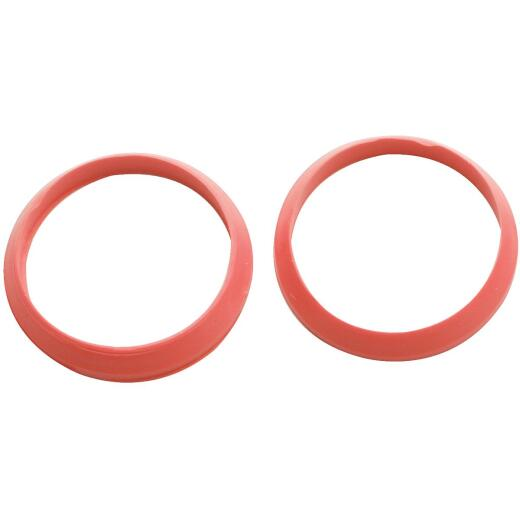 Do it 1-1/2 In. x 1-1/2 In. Black Rubber Slip Joint Washer (2 Pack)