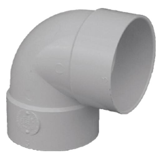 Genova SDR 35 90 Degree 4 In. PVC Sewer and Drain Short Turn Elbow (1/4 Bend)