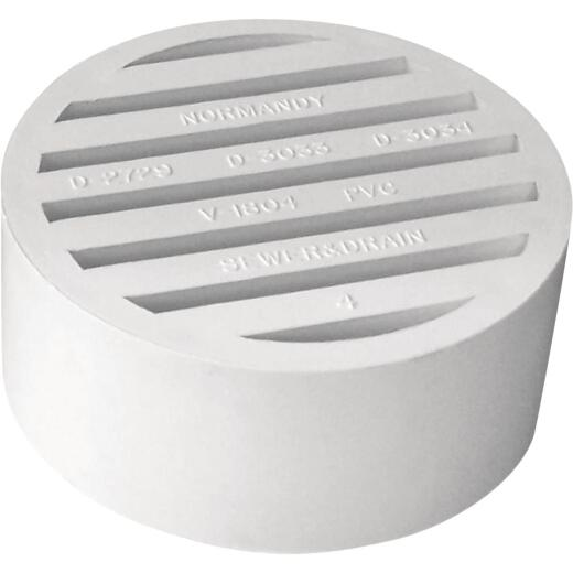 Genova Hub-Fit 4 In. PVC Floor Strainer