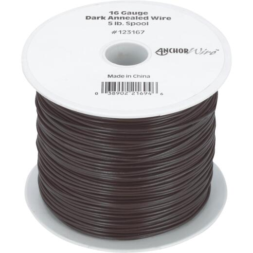 Hillman Anchor Wire 16 Ga. Black Mechanics and Stovepipe General-Purpose Wire (5 Lb. Spool)