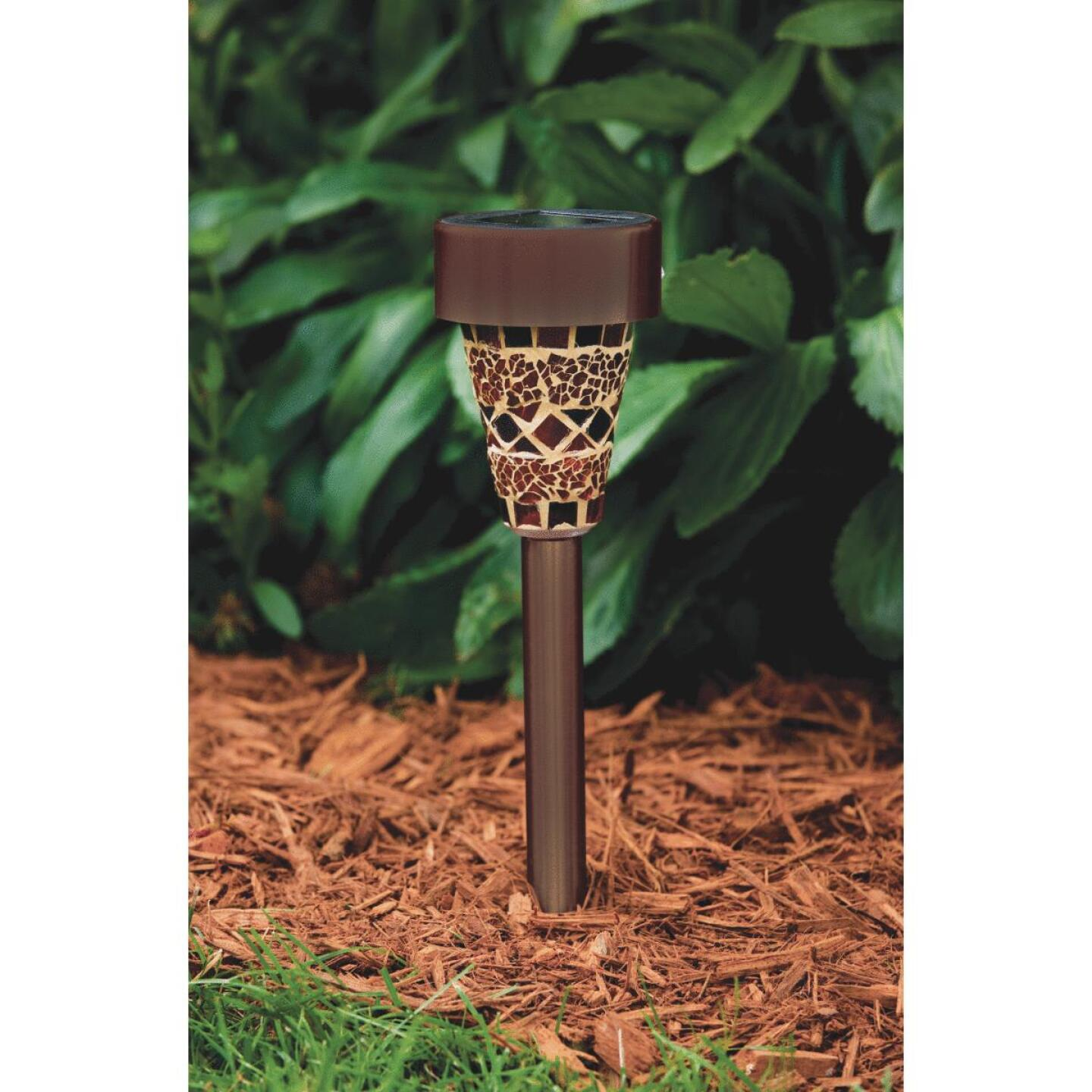 Outdoor Expressions Harvest Or Autumn Mosaic 2.10 Lumens Plastic Solar Path Light Image 7