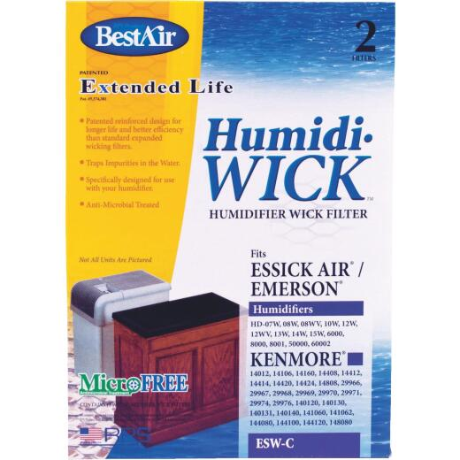 BestAir Extended Life Humidi-Wick ESW Humidifier Wick Filter (2-Pack)
