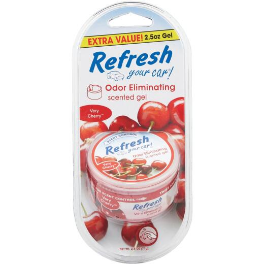 Refresh Your Car Gel Car Air Freshener, Very Cherry
