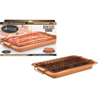 Gotham Steel Copper 10 In. x 14 In. Non-Stick Bacon Bonanza Baking Pan