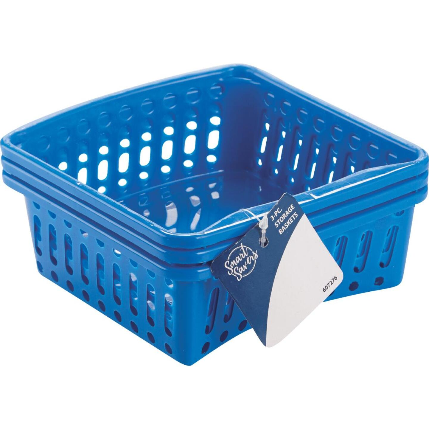 Smart Savers 5 In. W. x 2-1/3 In. H. x 6-1/2 In. L. Plastic Storage Basket (3-Pack) Image 1