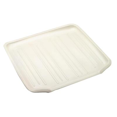 Rubbermaid 14.38 In. x 15.38 In. Bisque Sloped Drainer Tray