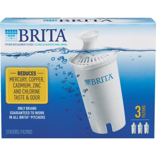 Brita Pitcher Water Filter Cartridge (3-Pack)