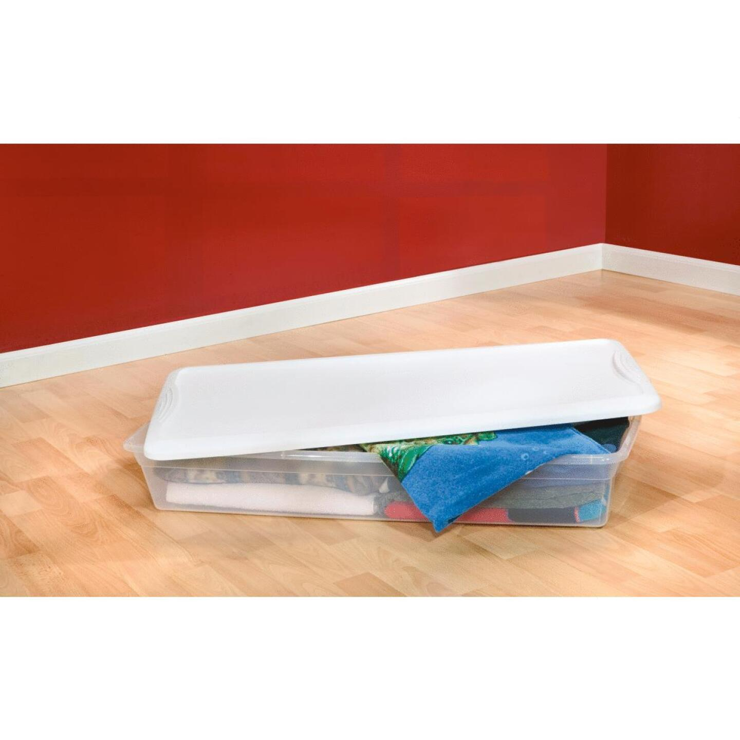 Sterilite Clear Storage 41 Qt. Underbed Box Image 3