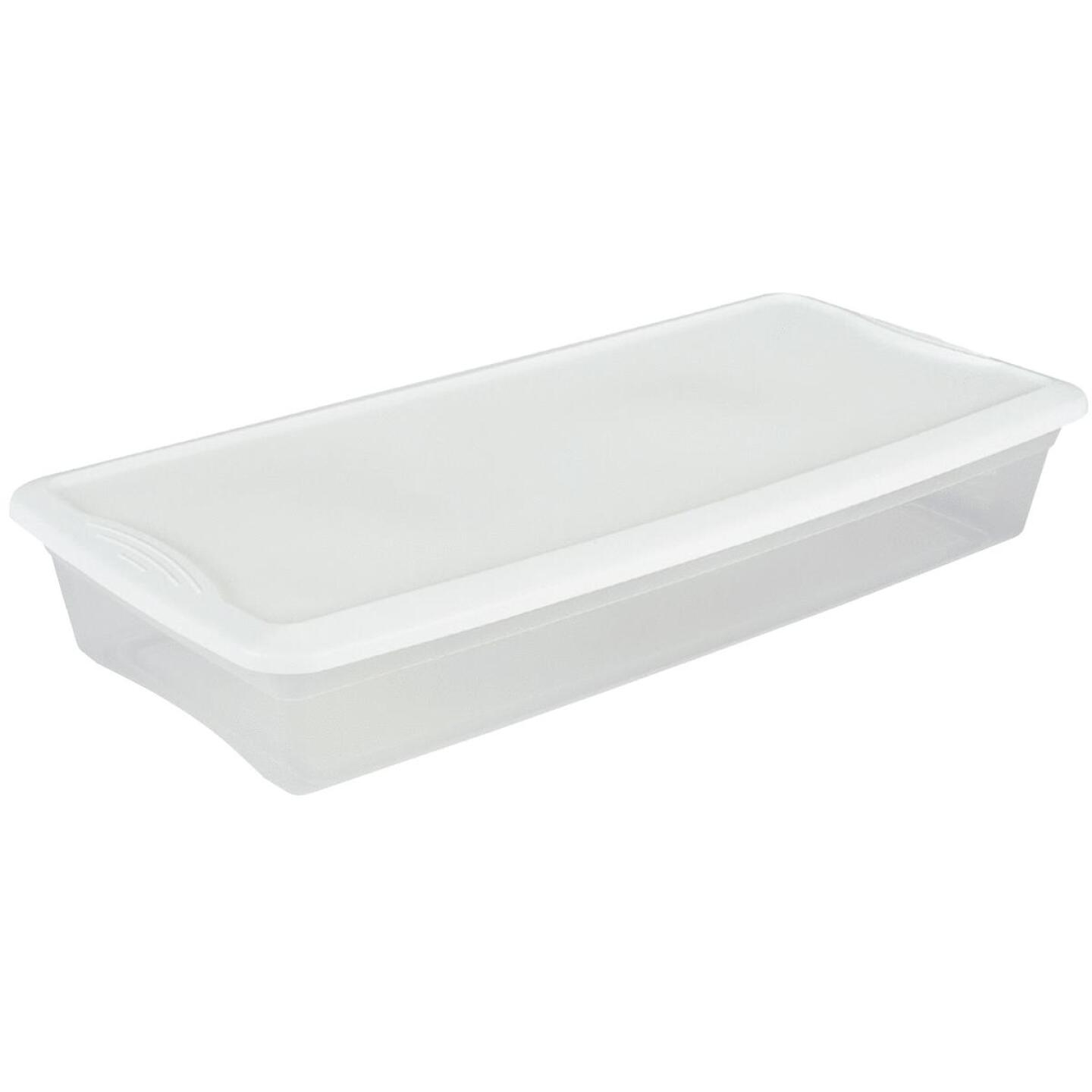 Sterilite Clear Storage 41 Qt. Underbed Box Image 1