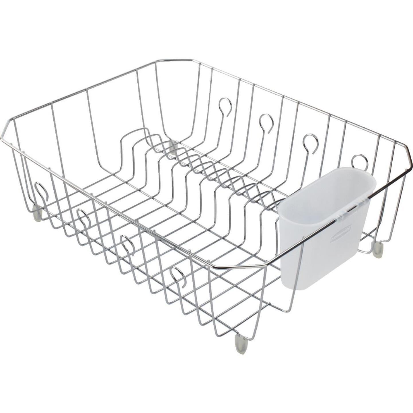 Rubbermaid 13.81 In. x 17.62 In. Chrome Wire Sink Dish Drainer Image 1