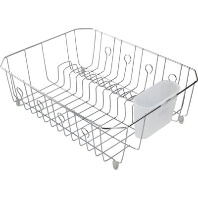 Rubbermaid 13.81 In. x 17.62 In. Chrome Wire Sink Dish Drainer