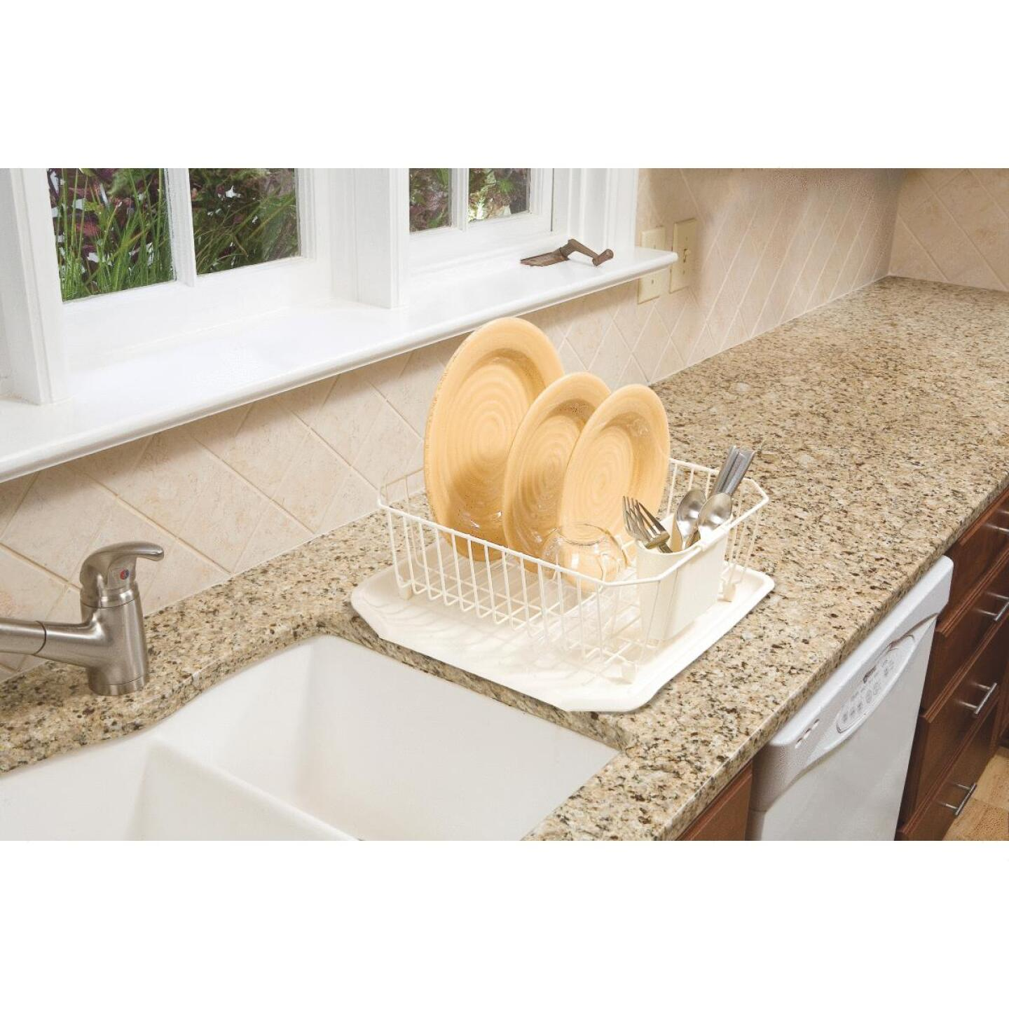 Rubbermaid 12.49 In. x 14.31 In. Bisque Wire Sink Dish Drainer Image 2