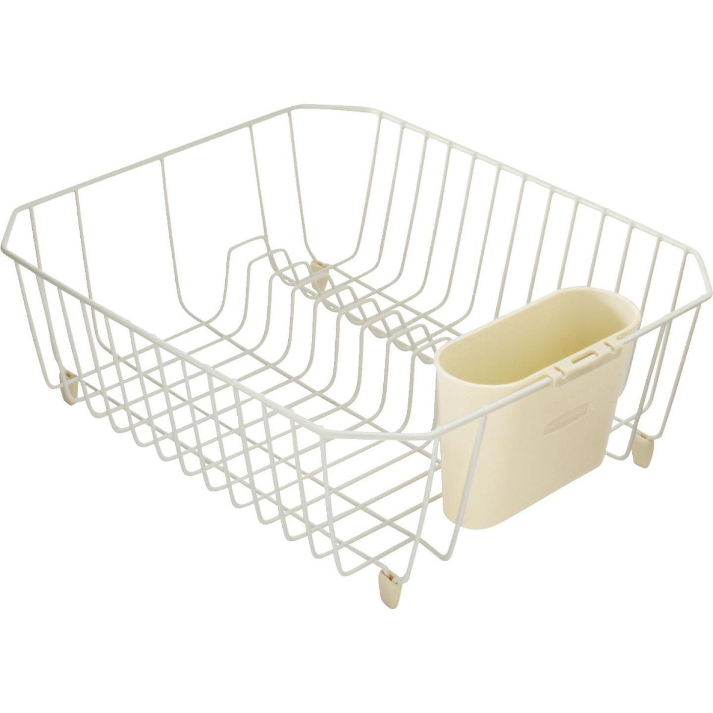 Rubbermaid 12.49 In. x 14.31 In. Bisque Wire Sink Dish Drainer Image 1