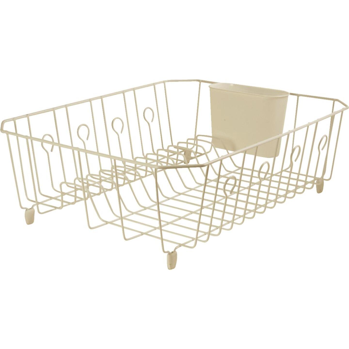 Rubbermaid 13.81 In. x 17.62 In. Bisque Wire Sink Dish Drainer Image 1