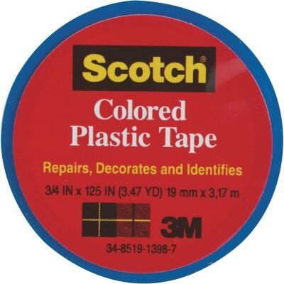 Scotch 3/4 In. Blue Colored Plastic Tape