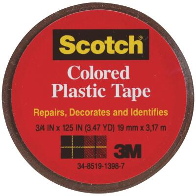 Scotch 3/4 In. Brown Colored Plastic Tape
