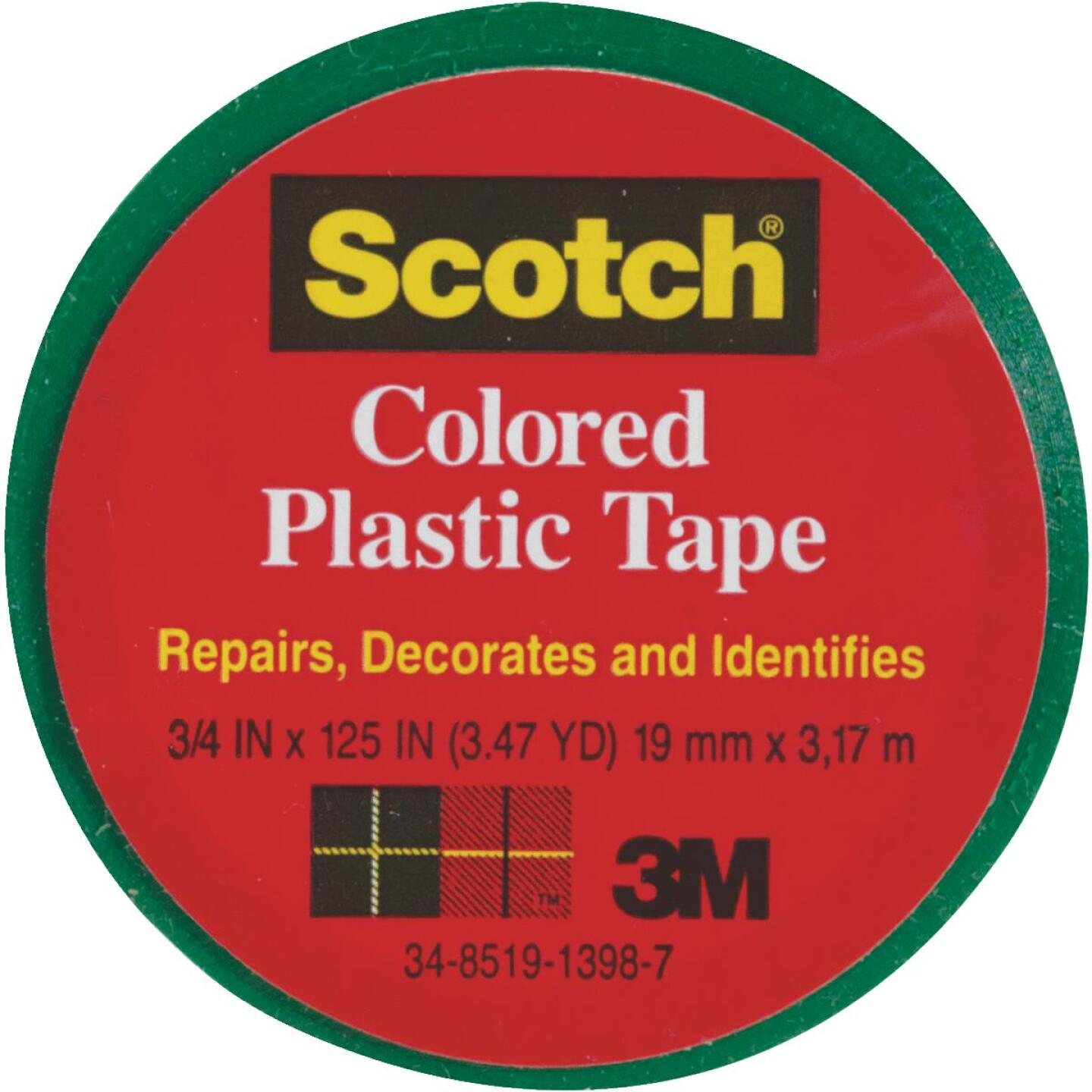 Scotch 3/4 In. Green Colored Plastic Tape Image 1