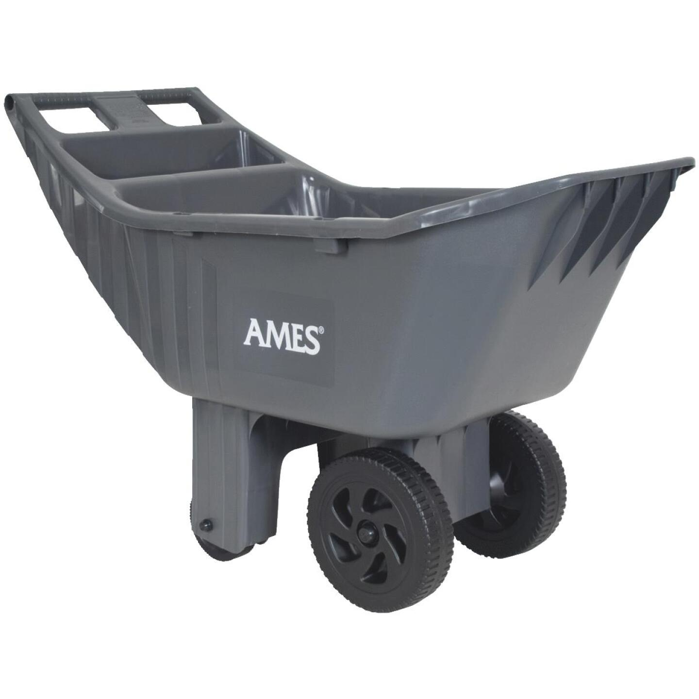 Ames Easy Roller 4 Cu. Ft. 250 Lb. Poly Garden Cart Image 1
