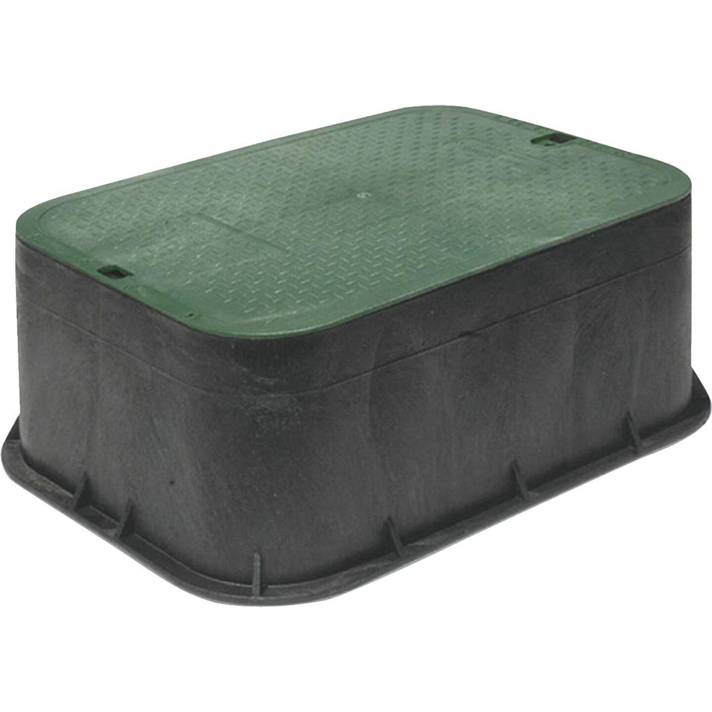 National Diversified 12 In. Rectangular Green Ext Irrigation Valve Box Image 1
