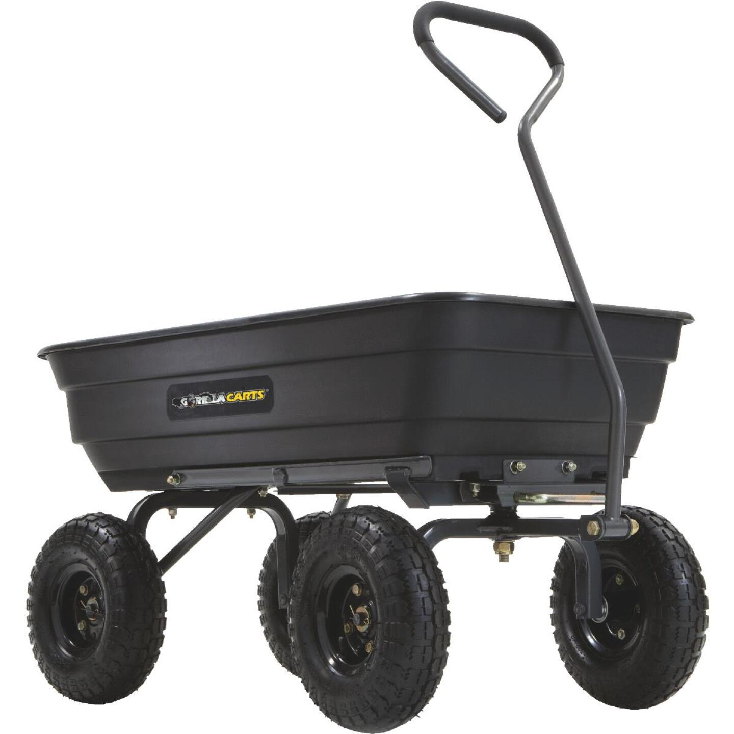 Gorilla Carts 4 Cu. Ft. 600 Lb. Poly Garden Cart Image 1