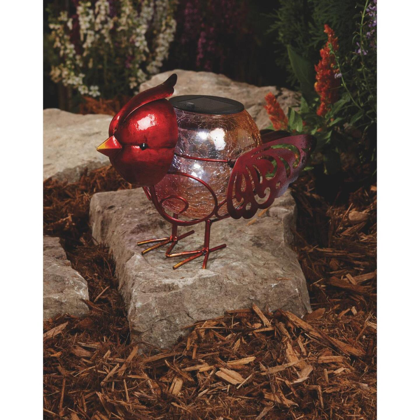Outdoor Expressions 7.5 In. H. x 6 In. Dia. Bird Solar Light Image 5