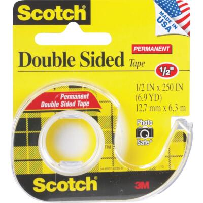 3M Scotch 1/2 In. x 250 In. Double Stick Transparent Tape