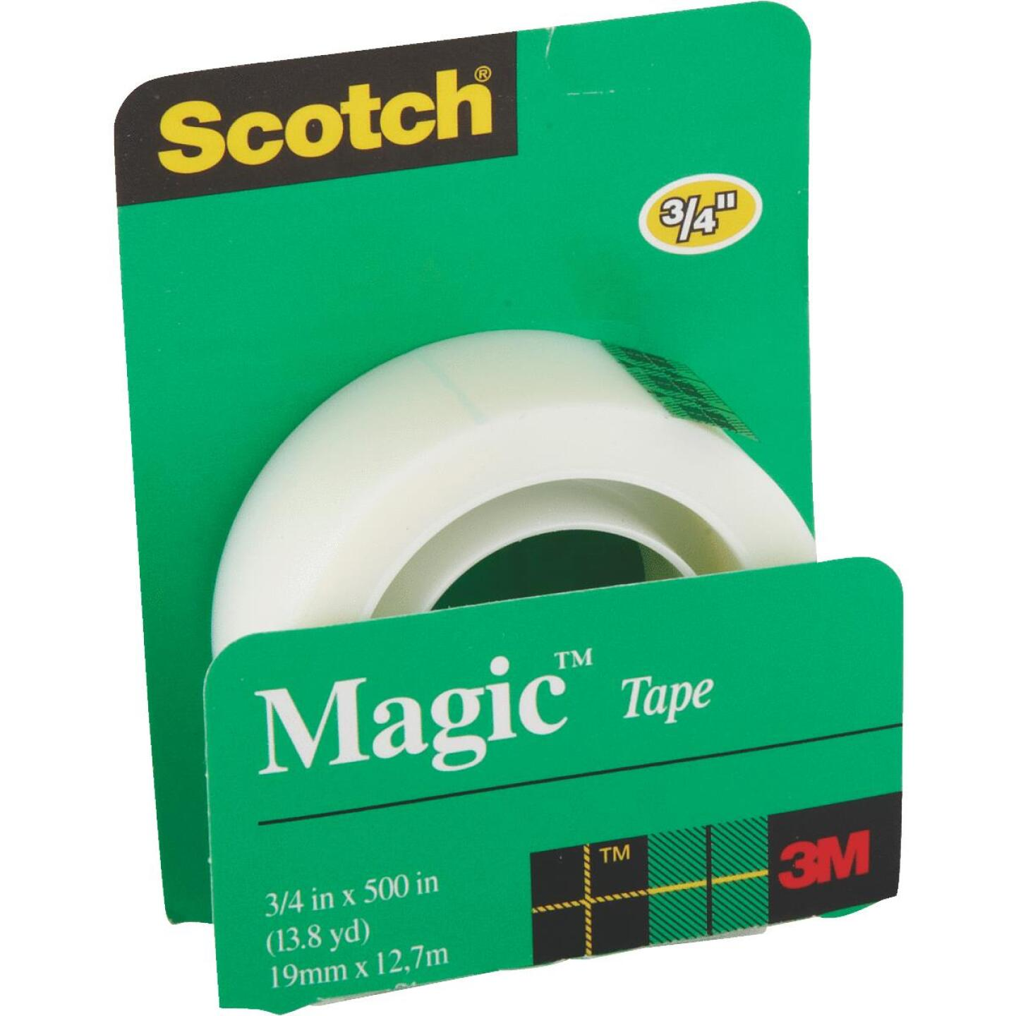 3M Scotch 3/4 In. x 500 In. Magic Transparent Tape Refill Image 2